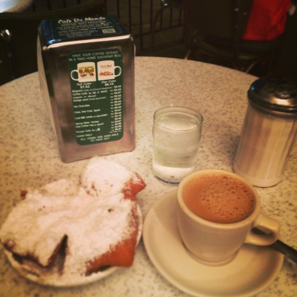 Coffee and Beignets at Cafe DuMonde